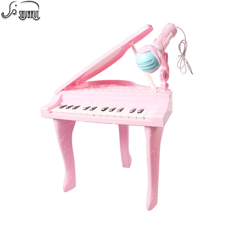25 Keys Kids Electronic Keyboard Electone Toy Electronic Piano Organ Musical Instrument Microphone Educational Toy Children Girl25 Keys Kids Electronic Keyboard Electone Toy Electronic Piano Organ Musical Instrument Microphone Educational Toy Children Girl