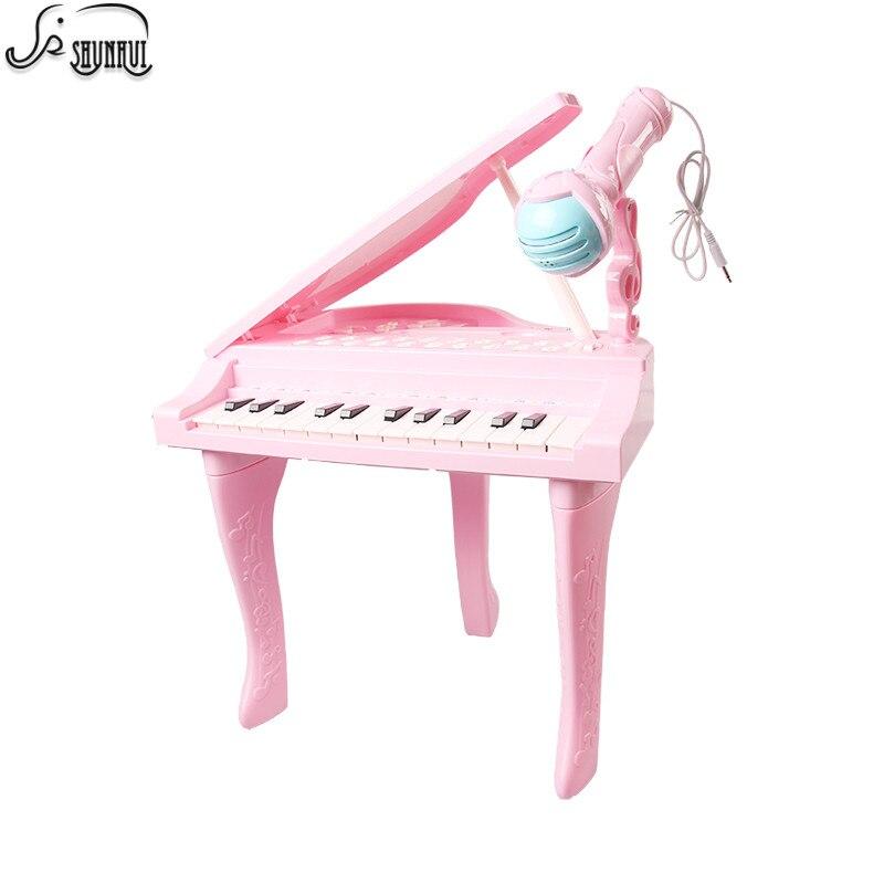 25 touches enfants clavier électronique Electone jouet électronique Piano orgue Instrument de musique Microphone jouet éducatif enfants fille