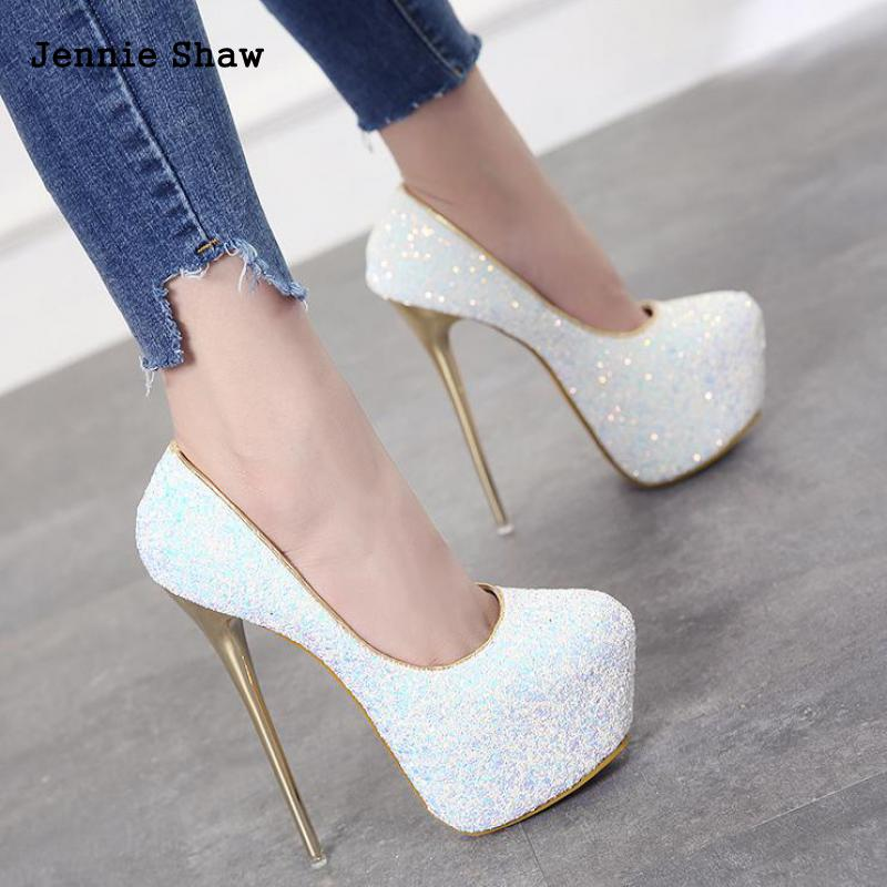 Thin Heels Party Summer Fashion Extreme High Heels Sexy Pumps Platform Stiletto Women Shoe Size 43