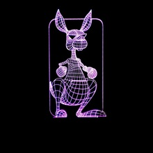 3D visual kangaroo Wear Sunglasses Multi-colored Acrylic Lig