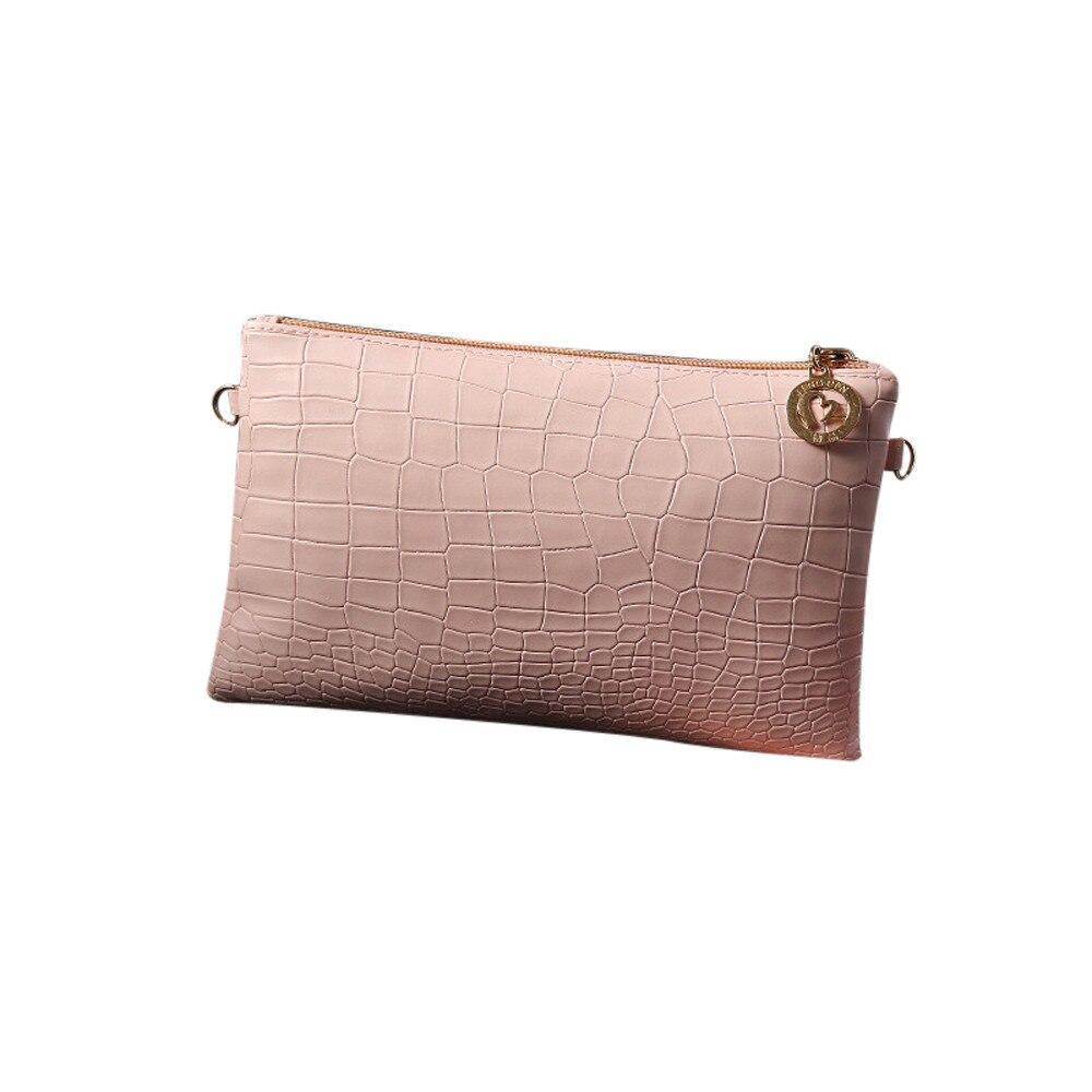 Kvindelig mode taske alligator pige damer soild farve lille enkel Messenger rutabagum Kors kasse taske bolso A1213