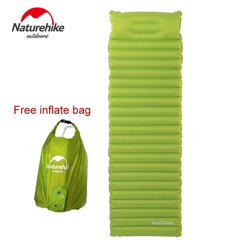Naturehike Ultralight Outdoor Air Mattress Moistureproof Inflatable Air Mat With TPU Camping Bed Tent Camping Mat