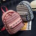 New fashion Brand original design mini backpack leisure PU satchel grain college bag rivet shoulder bag