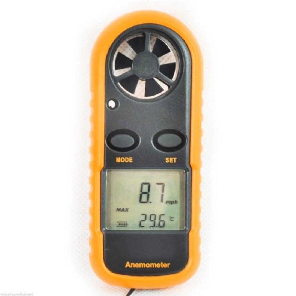 Mini Digital Hand-held Anemometer Thermometer Wind Speed Gauge Meter 30m/s Windmeter Wind Speed Measuring Instrument portable anemometer thermometer digital hand held wind speed gauge meter 30m s windmeter wind speed measuring instrument