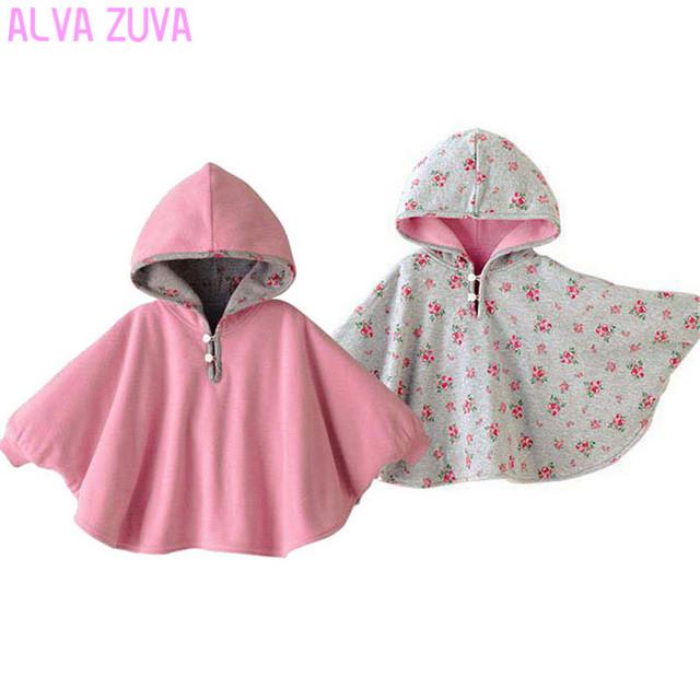 2017 abrigos bebé de la manera muchachos de la muchacha guardapolvos outwear fleece jumpers manto de niños clothing poncho cabo dd001