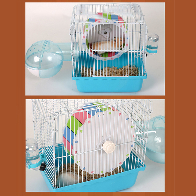 Small Pets Guinea Pig Hamster Wheel Silent roller Running Sports Round Wheel Hamster Cage Accessories Exercise Wheel for Pet Toy 4