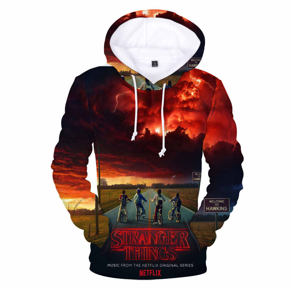 Stranger Things 3D  Character Printing Leisure Spring Autumn  Male Female Sweatshirt Hoodies Street Harajuku Hip Hop Tops
