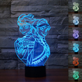 USB Remote Control Colourful Anna&Elsa 3D Table Lamp Luminaria LED Night Lights Kids Room Decorative Lighting Atmosphere Lamps