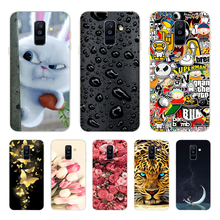 Silicone Case FOR Samsung Galaxy A6 2018 Case Cover SM A600 A600F Soft TPU sFOR Samsung A6 Plus 2018 Case A605 A605F цена и фото