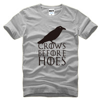 Crows Before Hoes Game Of Thrones Mens Men T Shirt Tshirt Fashion 2016 New O Neck
