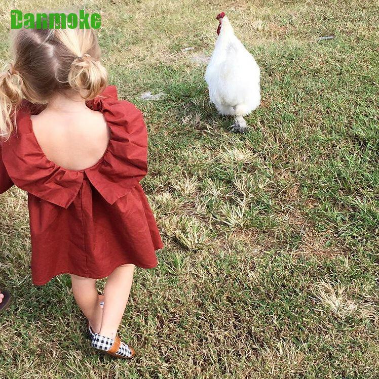 Danmoke Ins Bahar Yay Uşaq Geyimləri Moda Qız Vestido Təsadüfi - Uşaq geyimləri - Fotoqrafiya 2