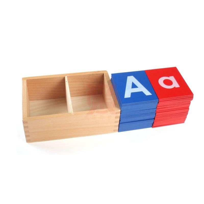 En bois Montessori Matériaux Montessori Papier de Verre Lettres Préscolaire Éducatifs Jouets D'apprentissage Juguetes Brinquedos MG1144H