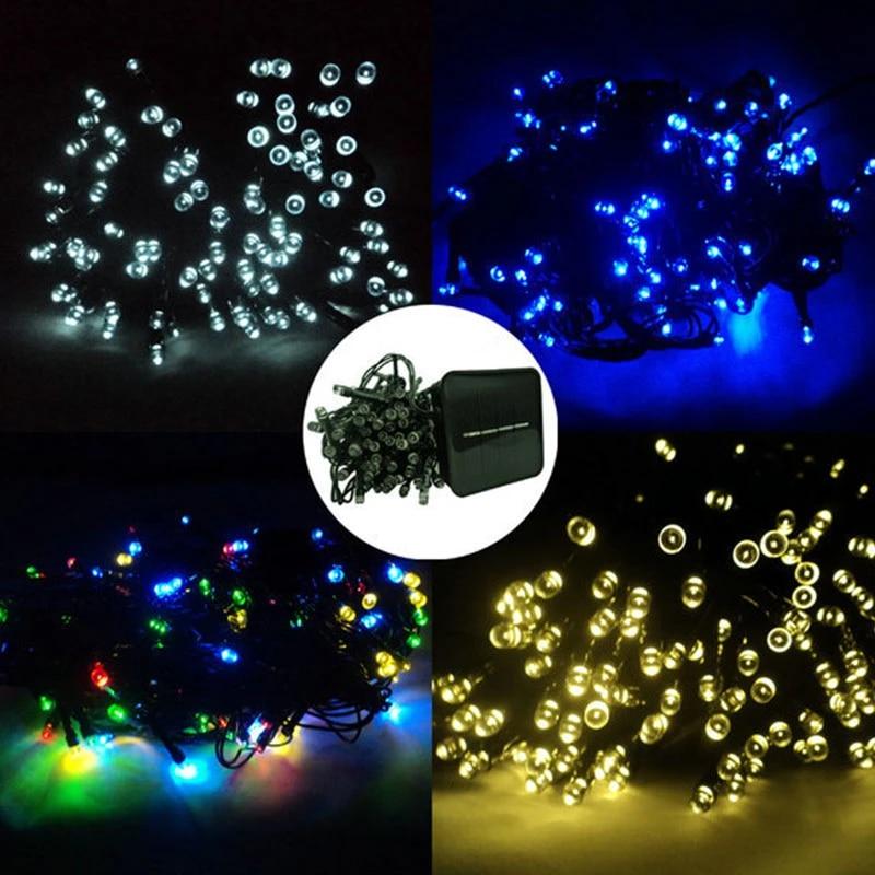 100-200 Led Solar Power Fairy Light String Lamp Party Xmas Decor Garden Outdoor