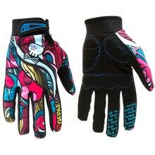 Qepae luvas de dedos completos para motocicleta, para inverno, funciona em touch, para corrida de moto/esqui/escalada/para ciclismo/esportes luva para motocross