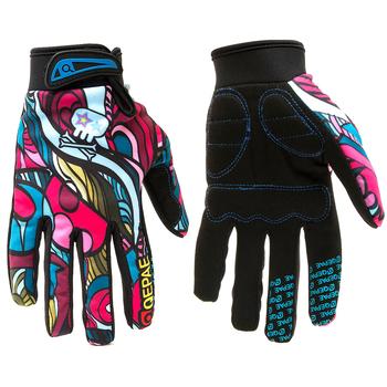 Rękawice zimowe motocyklowe Qepae z pełnym palcem ekran dotykowy Guantes Moto Racing narciarstwo wspinaczka jazda na rowerze Sport jeździecki rękawice motocrossowe tanie i dobre opinie K KWOKKER CN (pochodzenie) Nylon i bawełna Unisex Colorful bicycle gloves Lycra Fabric Skull Black Colorful gloves Gloves Mittens