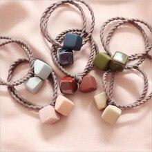 Корейское милое кольцо для волос в коробке, женские эластичные резинки для волос, аксессуары для женщин, резинка для волос, резинка для волос, держатель для конского хвоста