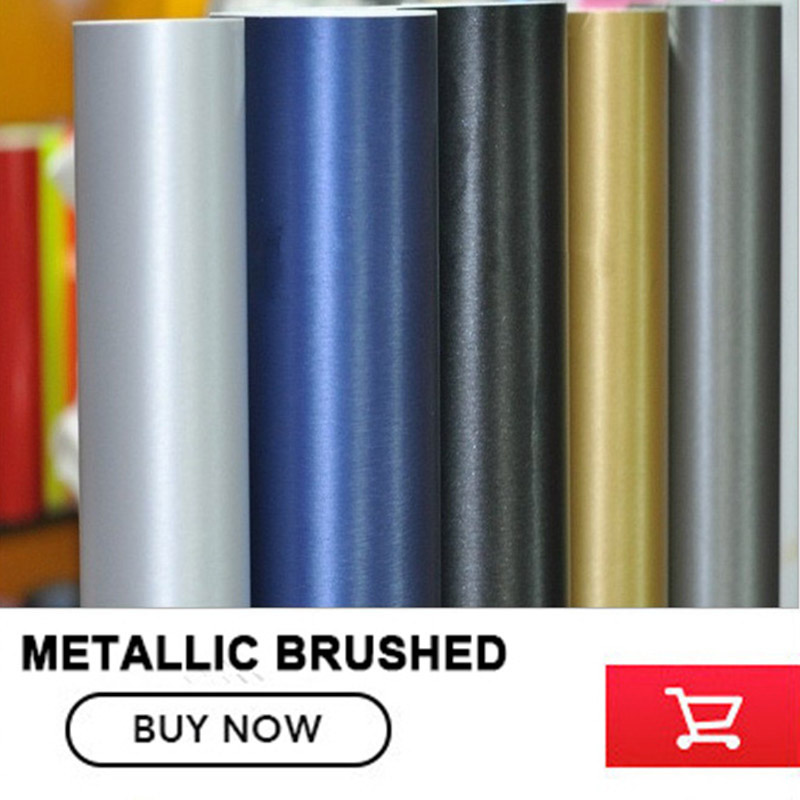 Classic grey Silver Metallic Brushed Aluminum Vinyl Metal vinyl Car Wrap Film Styling For Automotive&Motorcycl Interior Stickers