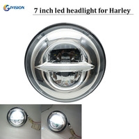 Motorcycle parts 50W 7 daymaker led headlight 7 inch H4 Hi/Lo beam Daytime running lights for Davidson harley Touring