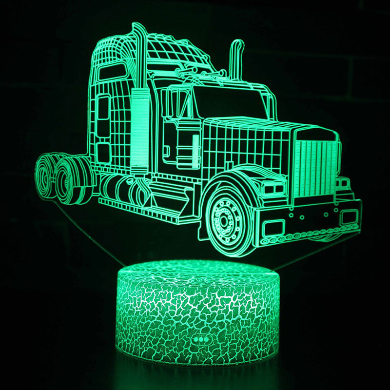 Super truck theme 3D Lamp LED night light 7 Color Change Touch Mood Lamp Christmas present DropshipppingSuper truck theme 3D Lamp LED night light 7 Color Change Touch Mood Lamp Christmas present Dropshippping
