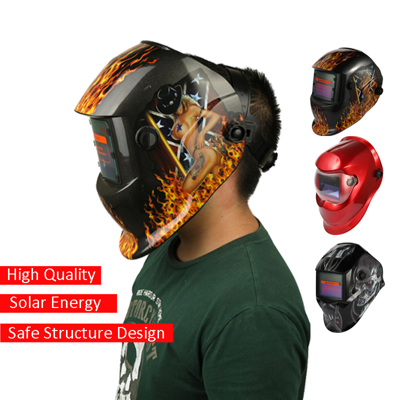 Considerate Solar Energy Automatic Variable Light Welding Mask Tig Spot Welding Helmet Cap With Adjustable Headband Knob Red Welding Helmets Welding & Soldering Supplies