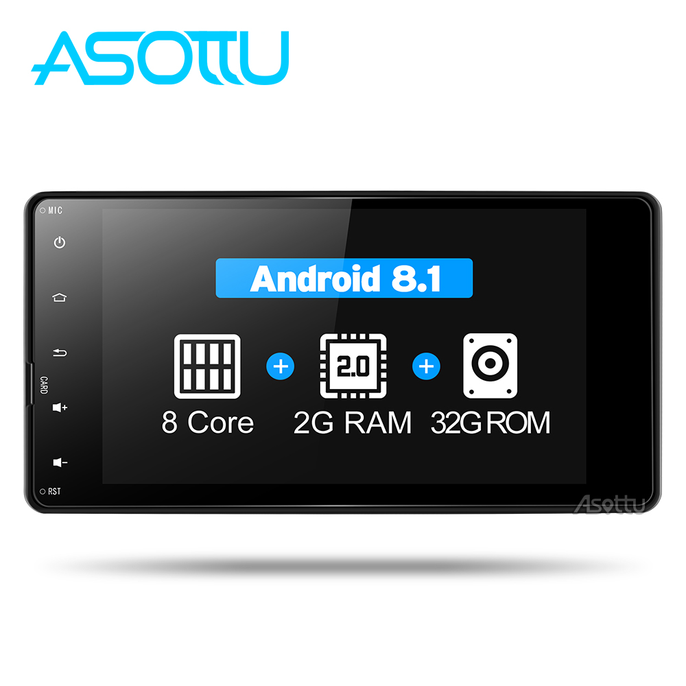 Asottu COLD7060 Android 8 1 2G 32G 8 core car dvd radio video gps navigation for