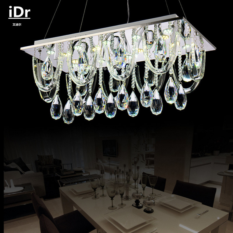 Compare prices on modern rectangular crystal chandelier online shopping buy low price modern - Chandelier online shopping ...