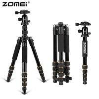 ZOMEI Q666 Professional Travel Camera Tripod Monopod Portable lightweight aluminum Ball Head compact for digital SLR DSLR camera
