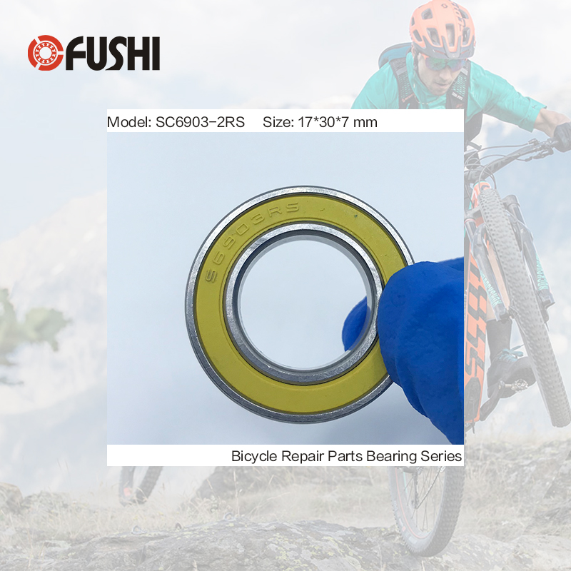 6903-2RS Stainless Bearing 17*30*7 mm ( 1 PC ) ABEC-3 6903 RS Bicycle Hub Front Rear Hubs Wheel 17 30 7 Ceramic Balls Bearings 2018 hot sale time limited steel rolamentos 6821 2rs abec 1 105x130x13mm metric thin section bearings 61821 rs 6821rs