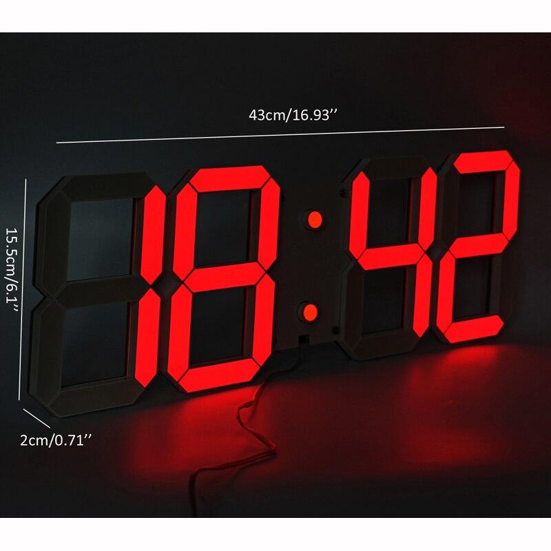 Grote Display led wandklok met afstandsbediening countdown/up timer klok met temperatuur datum 6 ''hoge led cijfers hoge zichtbaar-in Wandklokken van Huis & Tuin op  Groep 2