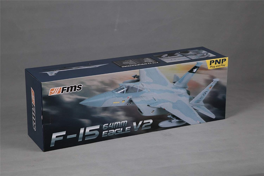 FMS 64mm F15 F-15 V2 Eagle Ducted Fan EDF Jet Sky Camo 4S FMS RC Airpllane Modern Fighter Model Hobby Plane Aircraft Avion PNP