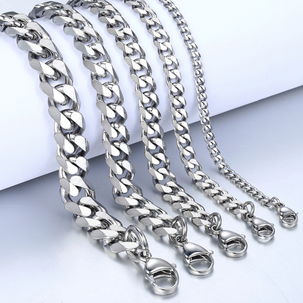 Unique Men's Silver Stainless Steel Bracelet