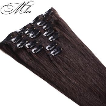 6A Peruvian Straight Clip In Human Hair Extensions 7pcs/set 70G-140G Human Hair