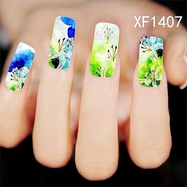 Summer Style Flower Design Water Transfer Nails Art Sticker Decals