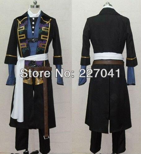 New Hakuouki Toshizou Hijikata suit Anime Cosplay Costume Custome Made Free Shipping