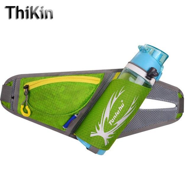 ThiKin Mujeres De Nylon Impermeable Bolso de La Cintura Botella de Agua Paquete de La Cintura bolsa de Los Hombres Fanny Correa de Cintura Bolsa Bicicleta de Color Caramelo Portátil bolsa