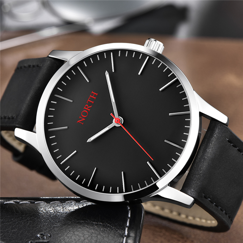 North Watch Men Luxury Brand Quartz Men's Watches Leather Strap Casual Military Clock Waterproof Sport Watch Relogio Masculino цена