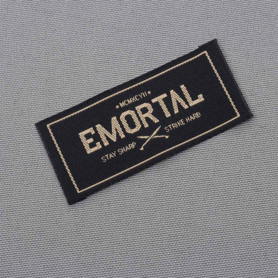 Buy custom brand shirt labels private Woven t shirt tags
