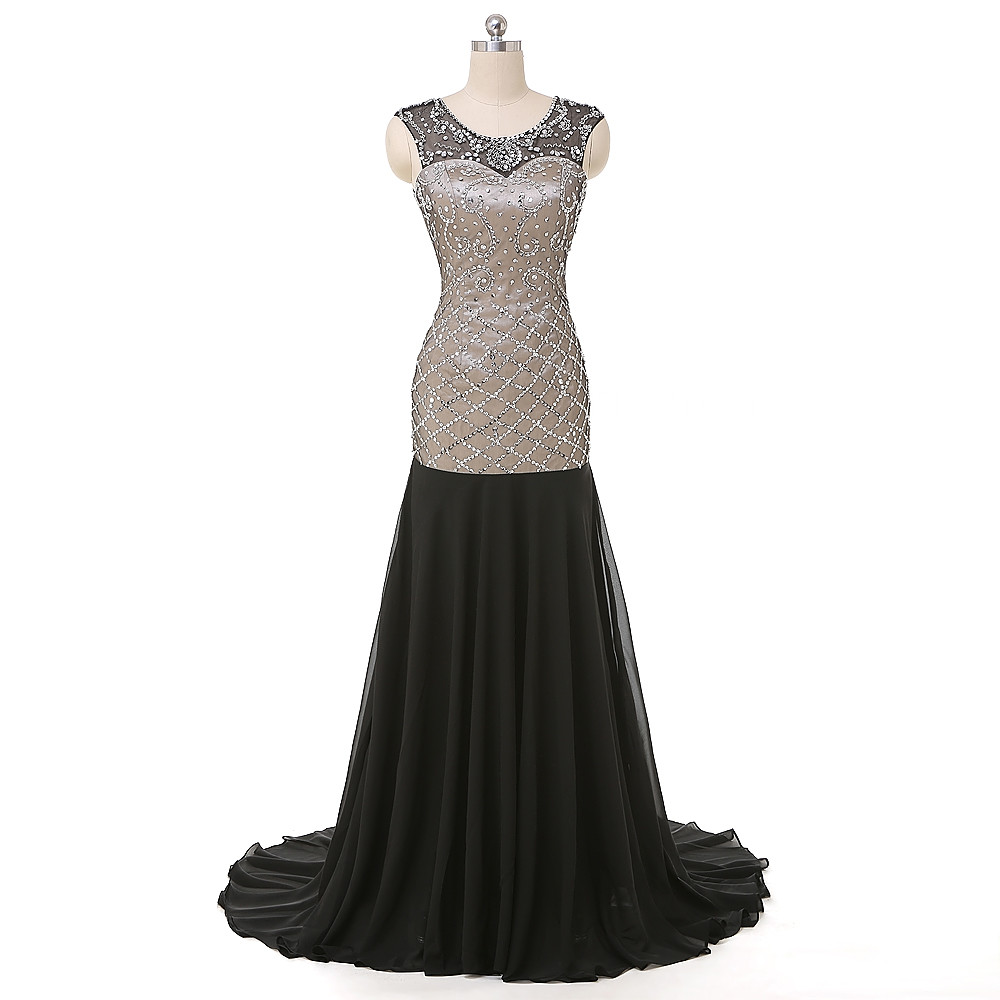 Eleganta Svart Höga Långa Prom Klänningar 2016 Sexiga Halva Långa Aftonklänningar Custom Långa Formella Klänningar Vestido de Festa