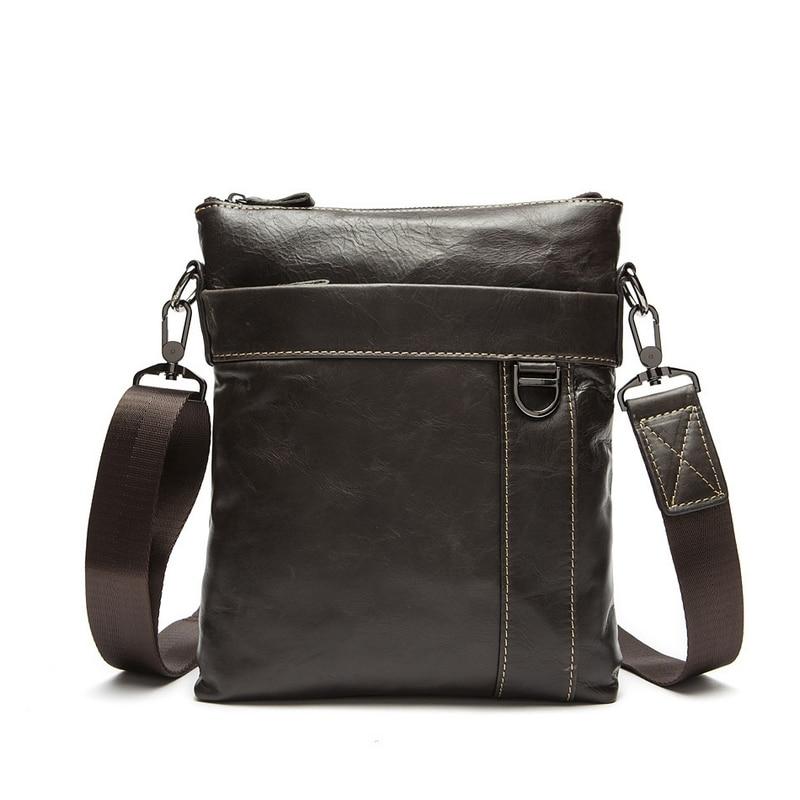 New Soft Genuine Leather Men Flap Crossbody Bag For Man Fashion Cowhide Shoulder Men Handbag Casual