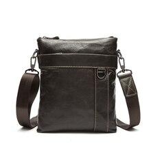 Neue Soft Echtes Leder Männer Klappe Crossbody Tasche für Mann Mode Rindsleder Schulter Männer Handtasche Casual Männer Messenger Bags A1892