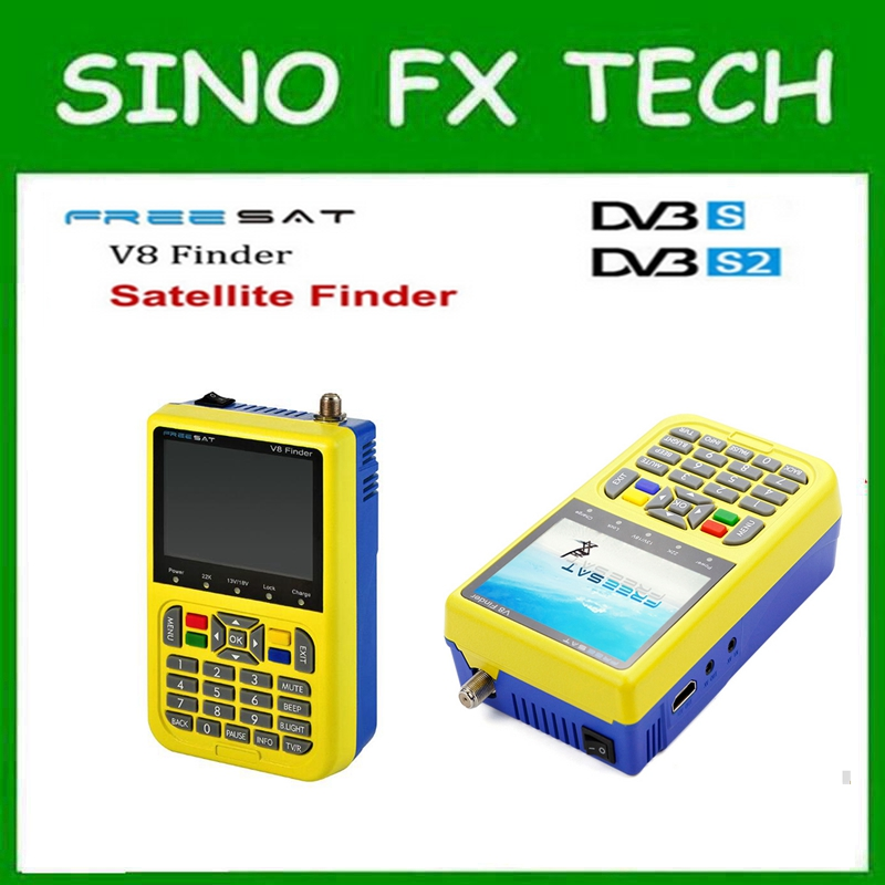 free ship FTA Digital Satellite Meter MPEG-2 High Definition satellite Finder freesat V8 Finder