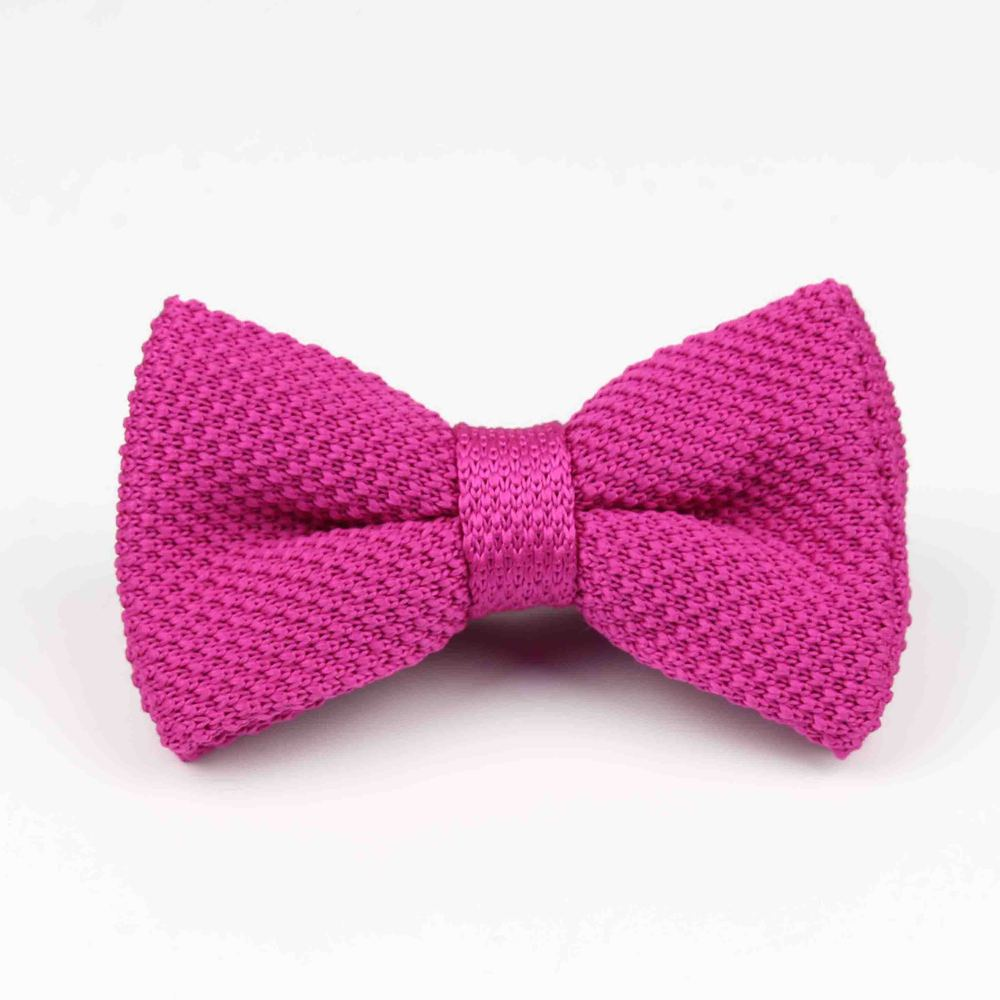 Мужские галстуки для шеи, смокинг, вязаная бабочка, Одноцветный галстук-бабочка, толстый двухслойный предварительно завязанный Регулируемый вязаный Повседневный галстук - Цвет: 28