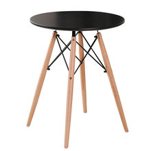 Cafe Tables Cafe Furniture home Furniture solid Wood round table coffee table basse minimalist desk mesas de centro 60/80*72cm(China)