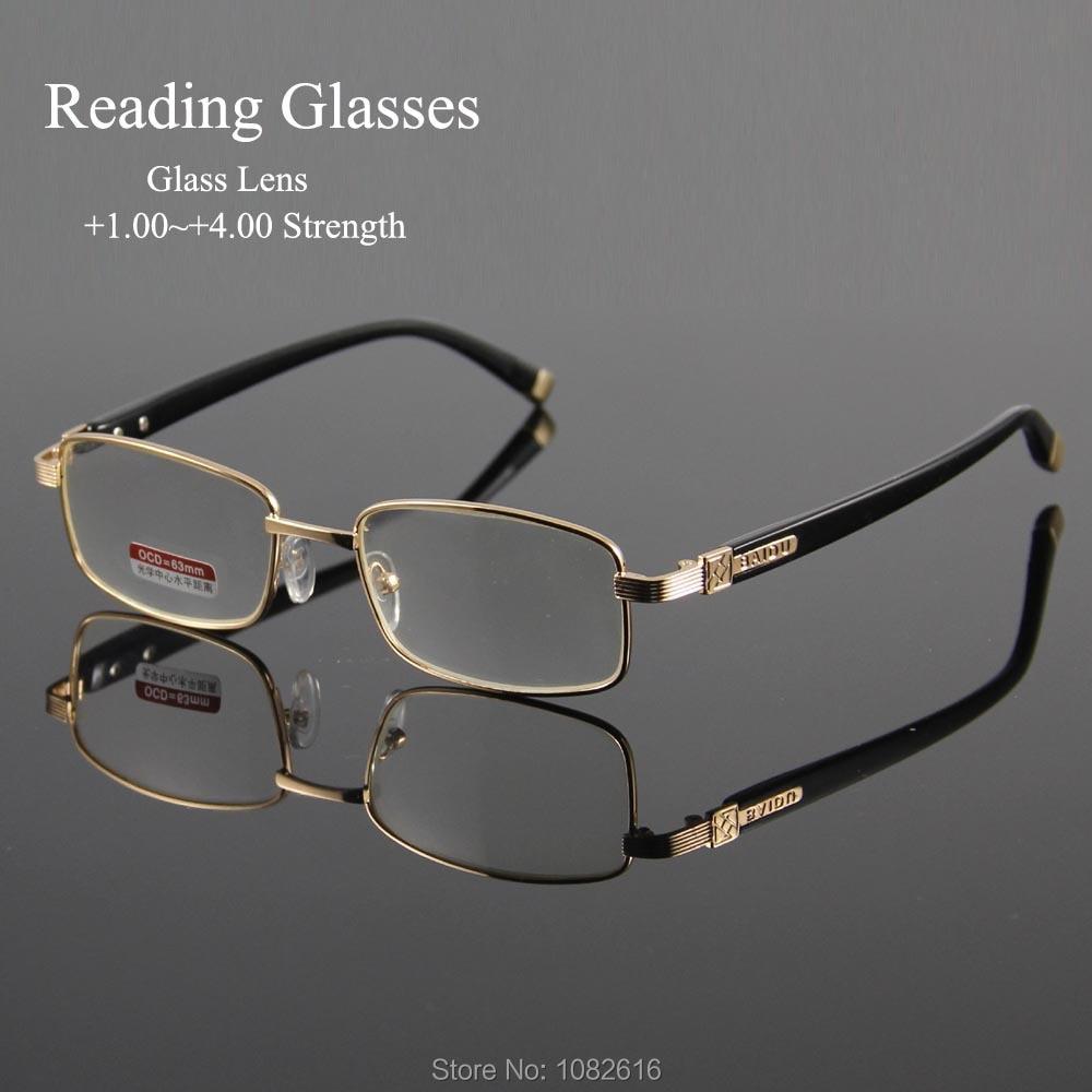 Reading Eyeglasses Presbyopic Spectacles Clear Glass Lens Unisex Glasses Frame Of Glasses Strength +1.0 ~ +4.0 Oculos Of Grau