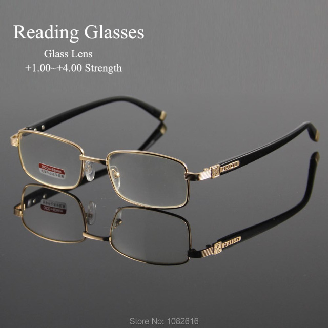 f67b8401a0 Reading Eyeglasses Presbyopic Spectacles Clear Glass Lens Unisex Glasses  Frame of Glasses Strength +1.0 ~