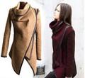 Зимнее Пальто Женщин мода 2015 MujerThick Леди Пальто Мода Асимметричный Куртки Шерсть Abrigos Casacos Femininos J34