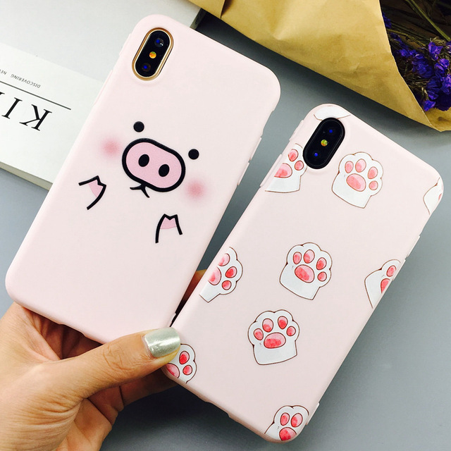 new concept a630a 56303 US $3.92 |Cute Cartoon Pig Case For Iphone X 8 Plus Case Lovely Animal Cat  Claw Back Cover Candy Soft TPU For Iphone 8 7 7 Plus Cases-in Fitted Cases  ...