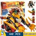 449 шт. Бела 10295 лаваль Огонь Лев Модель DIY Строительные Блоки Для Детей Устанавливает Классические Кирпичи Игрушки Совместим С Lego