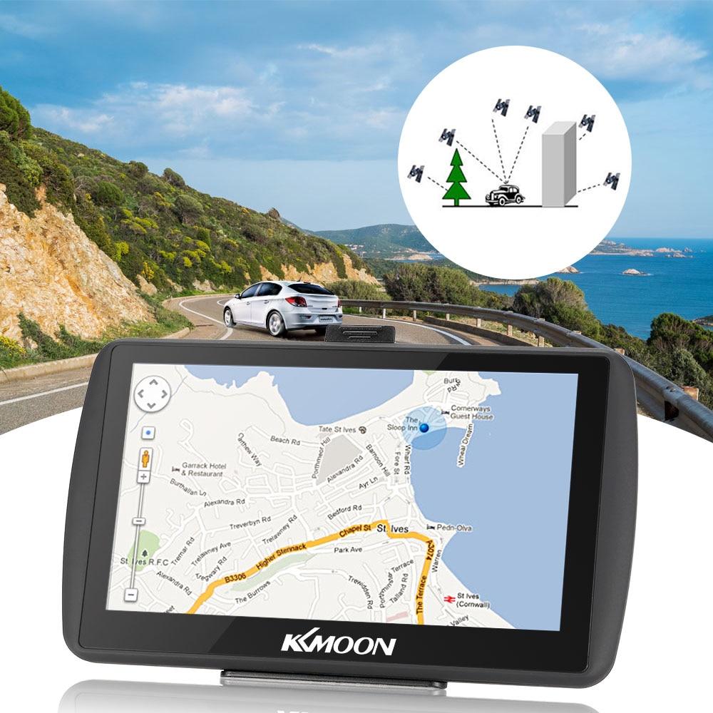 7-дюймовый HD Сенсорный экран автомобиля Портативный GPS навигатор 128 МБ 4 ГБ mp3 видео плеер автомобиля Развлечения Системы Бесплатная географические карты FM книги игры