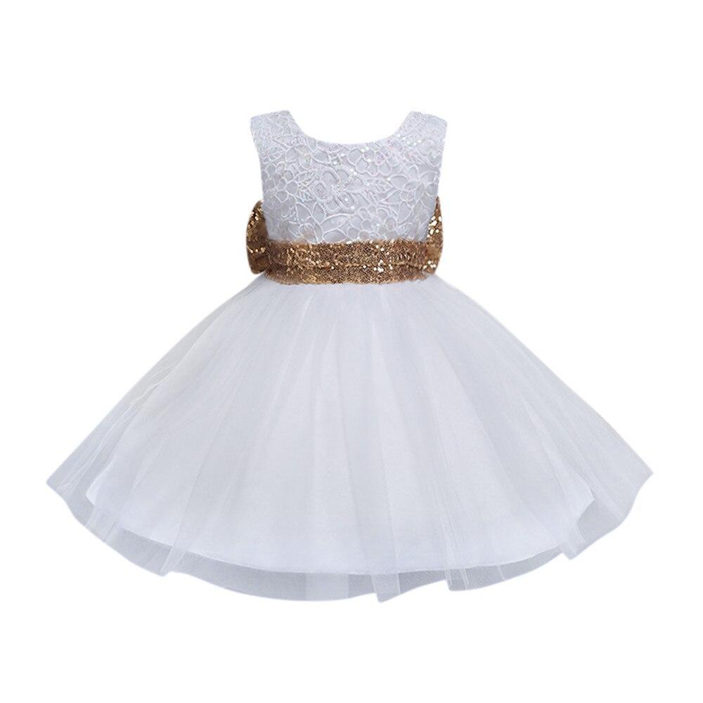 ARLONEET лето обувь для девочек платье с цветочным рисунком Свадебные Пышное Платье для принцессы праздничные платья от 0 до 4 лет Детская одежд...